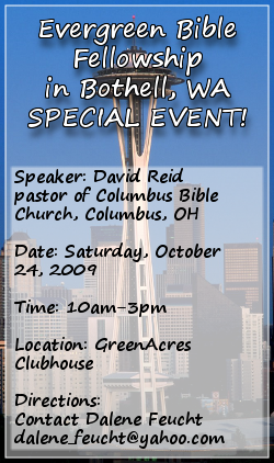 Evergreen Bible Fellowship Special Event